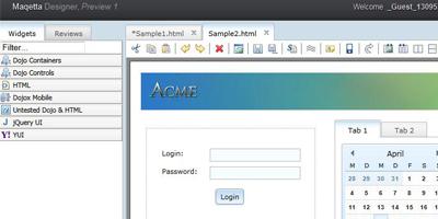 Maqetta Designer - Open Source Editor für HTML 5