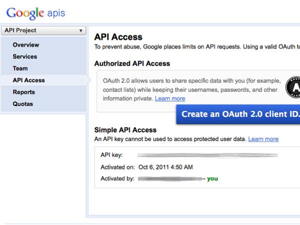 anwendungen mit der google api erstellen